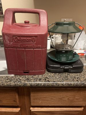 Vintage Coleman Propane Lantern With Carry Storage Case - 5154a 5151 for Sale in Phoenix, AZ