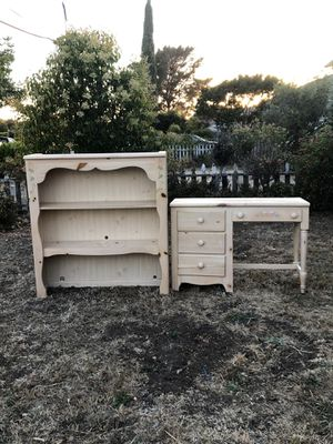 Child's desk with hutch with matching night stand for Sale in Vallejo, CA