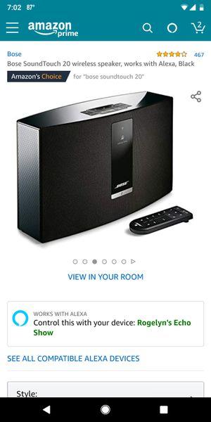 Bose Soundtouch 20 speaker for Sale in Clarksville, TN