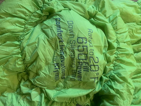 Down sleeping bag 20 degree