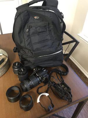Nikon D60 with 3 Lenses for Sale in San Antonio, TX