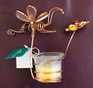 Unique Copper Wire Bee/Flower Candle Holder - BRAND NEW IN BOX. 👉See my other offers👈 for Sale in Stockton, CA