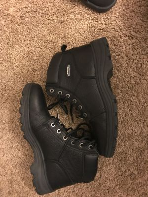 Sketchers work boots. Only worn Once Size 10 for Sale in Nuevo, CA