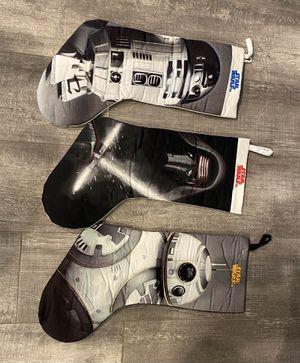Star Wars stockings - set of 3 for Sale in San Ramon, CA