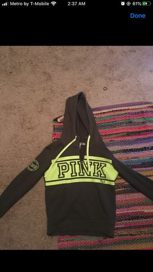 pink hoodie w chest zip up for Sale in Brooklyn, OH