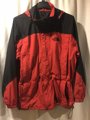 Mens Vintage The North Face HyVent Red Black Hooded Parka Jacket Coat XL for Sale in San Lorenzo, CA