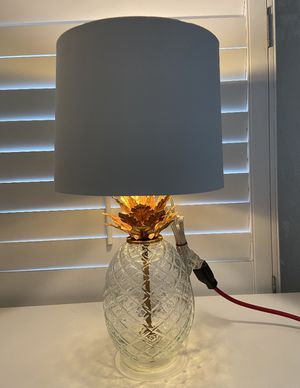Glass Pineapple Table Lamp Brass - Opalhouse™ for Sale in Los Angeles, CA