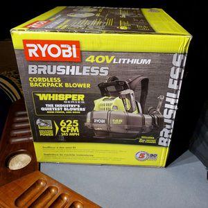 Rybi 40 V Lithium brushless Corliss backpack blower for Sale in Washington, DC