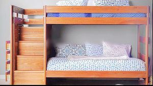 Twin bunk beds with stairs for Sale in North Las Vegas, NV