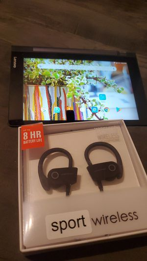 Levono tablet and regular Bluetooth headphones for Sale in The Bronx, NY