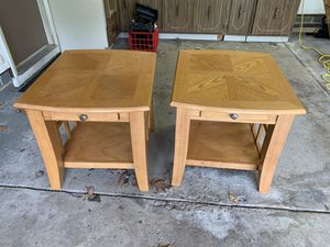 Oak Coffee and End Tables Set for Sale in Strongsville, OH