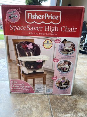 Still brand new in the box Fisher price SpaceSaver High Chair for Sale in Dearborn Heights, MI