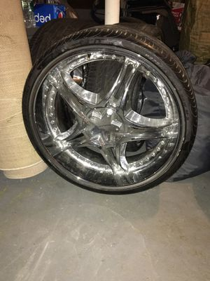 22 inch kmc rims with brand new low pro perelli tires for Sale in New York, NY