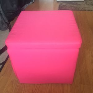Pink storage ottoman for Sale in Denver, CO