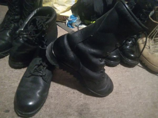 Four Nice Pair of Steel Toe Laced Ankle Work Boots Sz 9