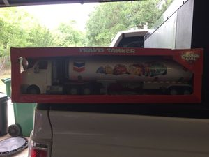 2005 Rare Collectable Travis The Tanker Toy. Box has little damage but toy is unopened and in perfect shape!! Great for Collection or gift for that for Sale in Castroville, TX