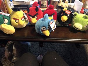 Angry birds plushies for Sale in Columbus, OH