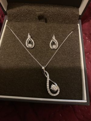 Hearts Desire Diamond Necklace and Earrings for Sale in Denver, CO