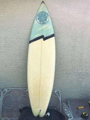 """Surfboard size 6'4"""" message when ready to pick up cross street is 32nd St. and Bell Road comes with board bag travel bag for Sale in Phoenix, AZ"""