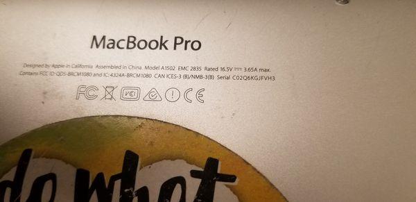 Macbook pro for parts