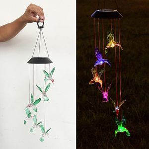 New in box $15 Solar Color Changing LED Hummingbird Wind Chimes Home Garden Decor Light Lamp for Sale in El Monte, CA