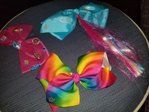 Jojo siwa bows hair clips, all 3 for $5! for Sale in Homestead, FL
