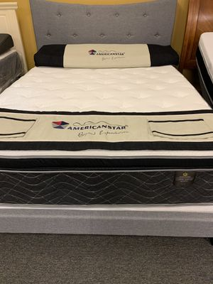 Queen size copper pillow top mattress. Special financing available for Sale in Irving, TX