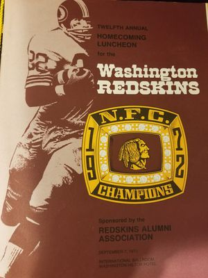 Washington redskins n.f.c champion 1972 book for Sale in Forest Heights, MD