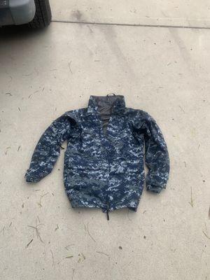 Navy Parka Small Long (Gortex) Military Camouflage Rain Jacket for Sale in Bonita, CA