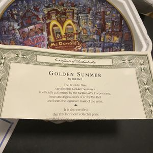 Franklin Mint McDonald's Collection Plates Golden for Sale in Haines City, FL