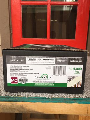 """Excellent """" Hitachi Metabo- HPT""""Nails 1-1/2""""X 131""""— 4000 Pcs. new in Box for Sale in Mesa, AZ"""