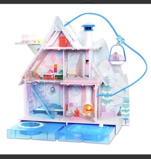 New in box LOL Surprise winter disco chalet wooden doll house with 95+ surprises (retail $250) for Sale in West Valley City, UT