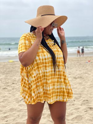 Plus size!!! summer beach bright yellow dress for Sale in Los Angeles, CA