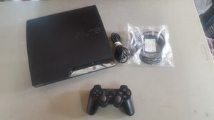 Ps3 Slim complete w/controller and cables for Sale in Rancho Cucamonga, CA