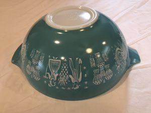 Vintage Pyrex Amish Butterprint 444 Cinderella Bowl Turquoise for Sale in Sacramento, CA