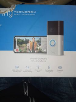 Ring Doorbell 3 for Sale in Yakima,  WA