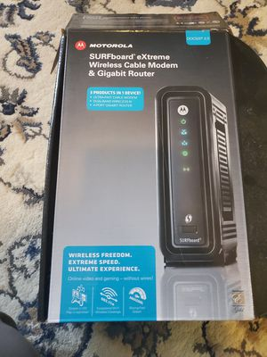 Motorola modems and router for Sale in Portland, OR