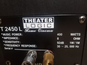 2 Theater Logic Powered Speakers T2450 for Sale in Everett, MA