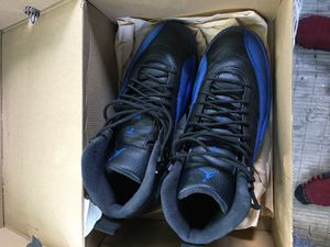 Retro Jordan 12 blue n back size8.5 for Sale in St. Louis, MO