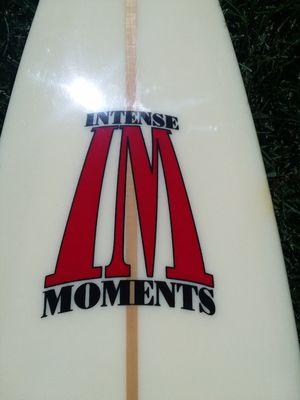 11'6 INTENSE MOMENTS GUN SURFBOARD SHAPED BY KENNY BRADSHAW MAVERICKS VETERAN GLASSED FINS for Sale in Murrieta, CA