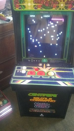 used mini arcade game comes with 4 different games for Sale in Fontana, CA