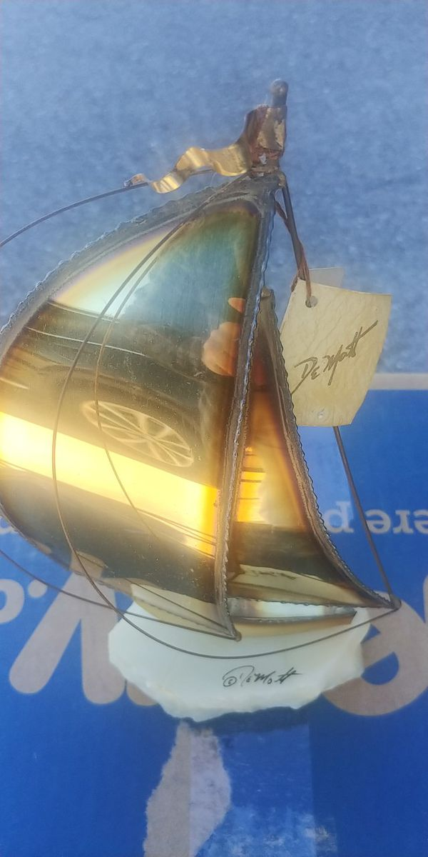 Dan Demott Signed Sail Boat