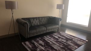 Velvet Rolled Arm Sofa / Couch - it converts into a bed in seconds for Sale in Henderson, NV