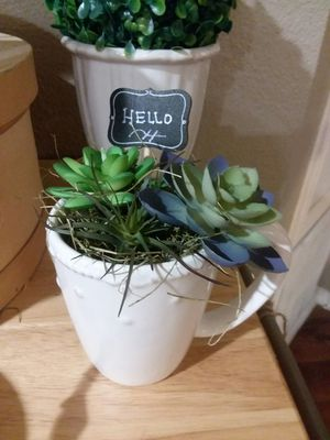 Sweet coffee cup floral decor. New! for Sale in Houston, TX