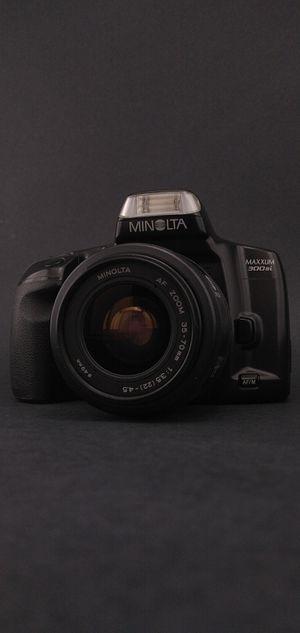 Minolta Maxxum 300si SLR 35mm Film Camera Bundle for Sale in Denton, TX