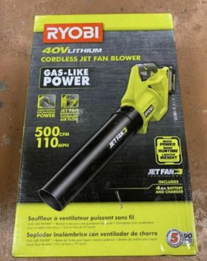 RYOBI 110 MPH 40-Volt Lithium-Ion Cordless Variable-Speed Jet Fan Leaf Blower!!! for Sale in Tampa, FL