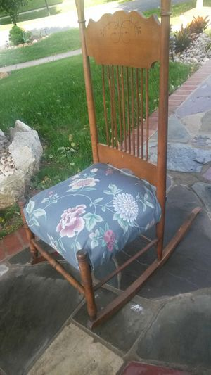 Beautiful solid cherry wood rocking chair for Sale in Colesville, MD