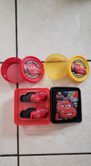 Boys Thomas cup, Cars lunch boxes and plate for Sale in Forney, TX