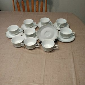 "Mikasa""Chapel"" Footed Flat Cup and Saucer Set for Sale in Covington, WA"