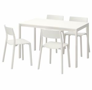 Table and 4 chairs, white, white for Sale in Philadelphia, PA